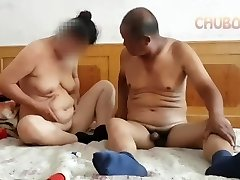 Chinese granddad providing it to grandma from behind