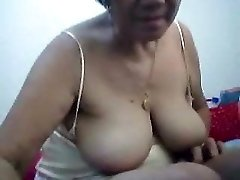 Filipino grannie 66 pleasing me on cam