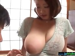 Busty japanese chick groped and fucked 2/4