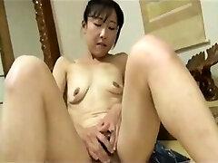 Japanese Grandma has finger fun