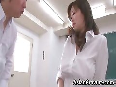 Sexy and horny asian teacher shows her part6