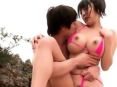 Velika sinica Japonski zajebal na plaži