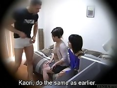 Subtitled Japanese homestay gone wrong CFNM oral pleasure