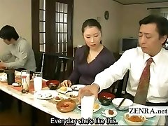 Subtitled weird Japanese bottomless no underpants family