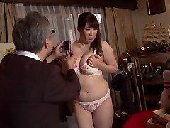Super-naughty Japanese whore Chitose Saegusa in Crazy public, striptease JAV vid
