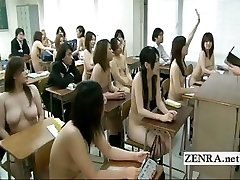 Bizarre Japan college with naked in college schoolgirls