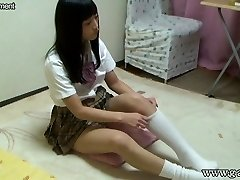 Chinese Schoolgirl Upskirt and Downblouse