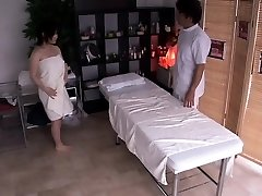 Pregnant asian getting her unshaved cage fingered