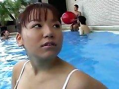 Teenie Gals Swimming Pool Orgasm