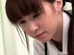 See how this Japanese nurse gets so horny part6