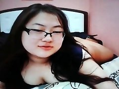 Cute chubby chinese teen on webcam
