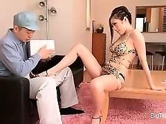 Smoking super hot Japanese housewife seducing part3