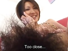 Subtitled Japanese unexperienced perfect bush naked body check