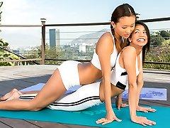 Yoga with 2 hotties