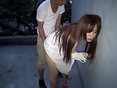 Best Japanese super-bitch Megu Hazuki in Exotic doggie, outdoor JAV movie