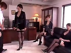 Naughty Japanese chick Leila Aisaki, Akari Hoshino, Risa Murakami in Naughty Underwear, Fetish JAV movie