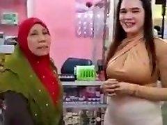 Malaysian Cameltoe Busty Muslim Mega-slut