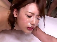 Super-fucking-hot japanese bukkake scene