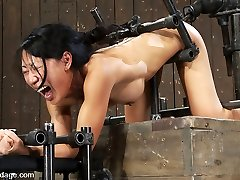 Tia Ling in Tia LingSuch a tiny bootie, such a massive machine spunk-pump! - DeviceBondage