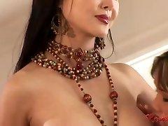 Asian harem sapphic group sex