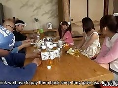 Whiny Japanese honies get fucked in an orgy