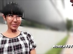 Gross Korean Milf with Glasses in Japan
