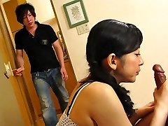 Emiko Koike in Emiko Koike is plumbing her step-son-in-law and his best homie - AviDolz