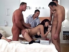 Extraordinaire pornstar Aisha Sun in fabulous gangbang, black-haired sex scene