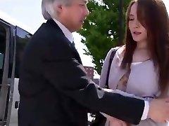 japanese bus businessman facking