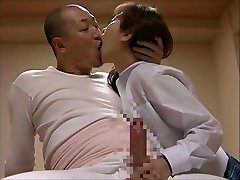 Japanese Kiss - Old Teacher & Youthful Student Tongue Kiss Sex!