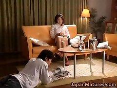 Horny japanese mature stunners sucking