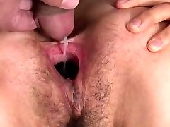 Crazy japanese gal sperm fill & pussy gape