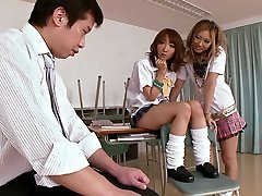 Schoolgirls Double Team The Schoolteacher