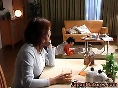 Horny japanese mature babes throating