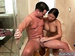 Nasty extreme horny japanese babe blows
