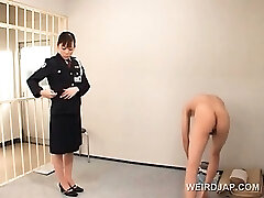 Nasty asian police woman cunt licked by crazy convict