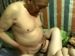chinese grandfather cum inside grandma