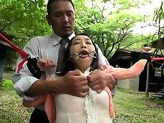 Asian milf Bondage & Discipline anal fisting and bukkake