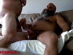 hairy muscle bear shooting a meaty load