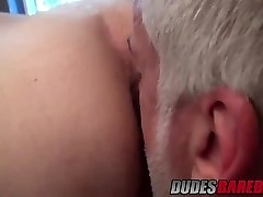Older dude Jake Marshall drills hot guy in a bathroom