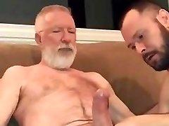 Sucking old dudes big cock