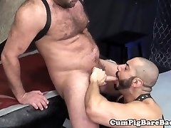 Rimmed bear butt-banged by muscular stud