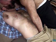 Hairy wolf bareback with cumshot