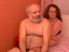 Straight Daddy Hunk with Chub Woman
