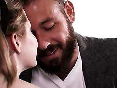 Attractive seductress Britney Light is fucked by bearded beau