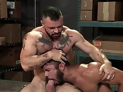 Muscle bear assfucking with anal cumshot
