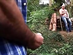 Loggers fuck in the woods