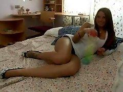 Double Stuffed teen Whore