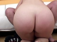 Big fat dude gets lucky with a hot brunette