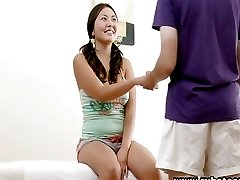 Hot Asian fucked and creampied